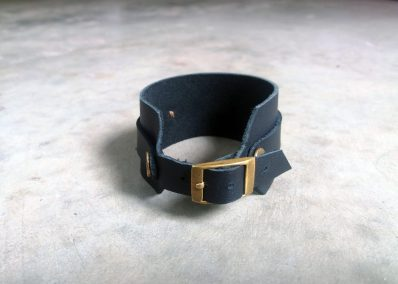 AL1- Mens leather and bullet cuff (back view)