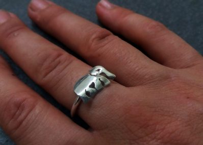 NK4 - Silver Elephant ring