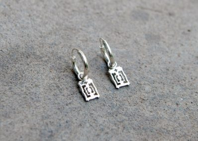 TEA4 - Silver Angkor Hoop Earrings