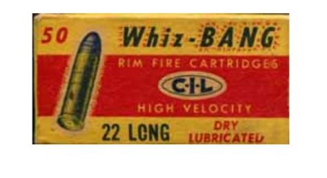 A Vintage Box of Whiz-Bang Rim Fire .22 caliber Rim Fire Rifle Cartridges, Used to Kill a world Record Grizzly Bear By Bella Twin