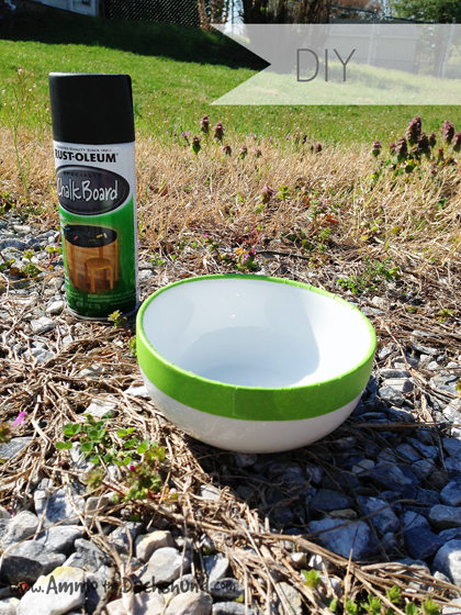 DIY Chalkboard Dog Bowl - Under $5 // Ammo the Dachshund
