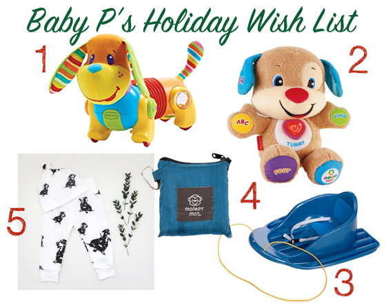 Baby P's Christmas Wish List