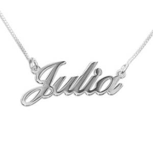 Small Sterling Silver Classic Name Necklace