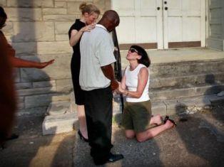 Image result for women on knees begging