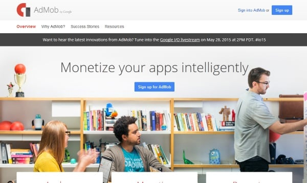 admob أفضل البرامج الإعلانية للربح من تطبيقات و ألعاب الموبايل