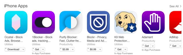 iOS 9 ad block wars