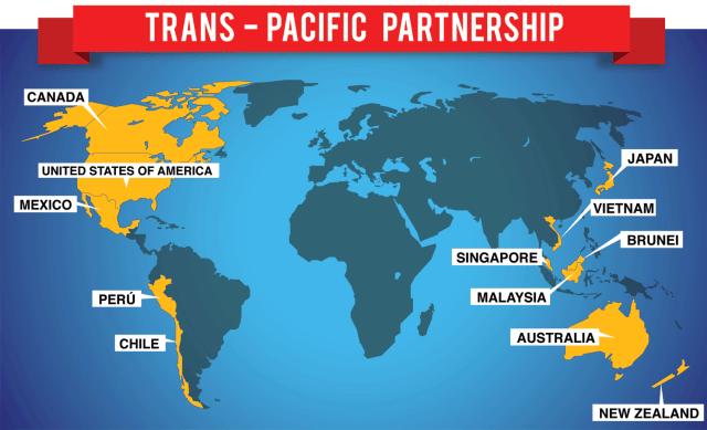 "The-TPP كل شيء عن اتفاقية الشراكة التجارية عبر المحيط الهادئ ""TPP"""