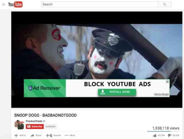 youtube_adblocker1 ضحكة تقنية: جوجل يروج لإضافات حجب إعلانات يوتيوب