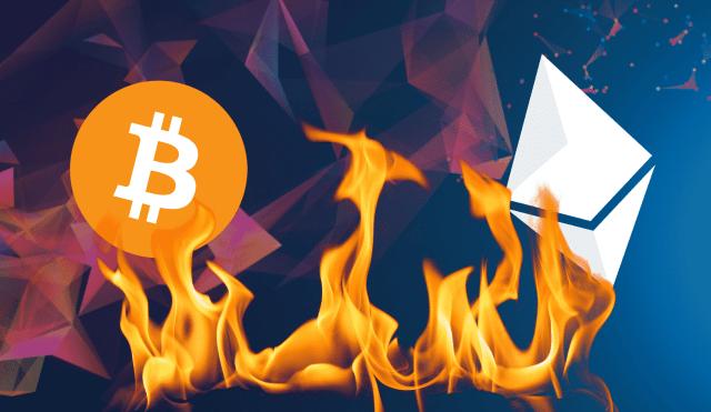 ethereum-vs-bitcoin بالأرقام عملة الإثريوم ethereum تهدد حصة بيتكوين