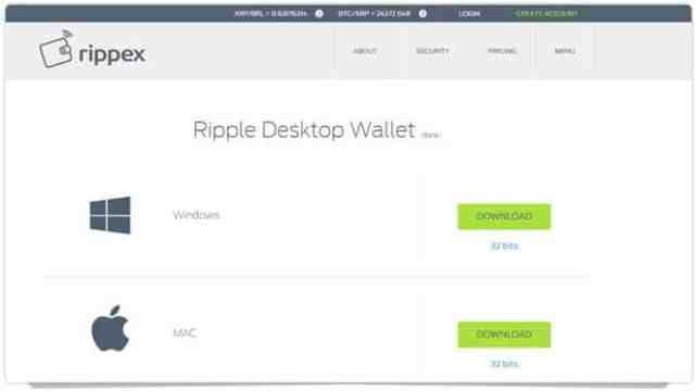 ripple-1 برنامج محفظة عملة الريبل XRP لحواسيب ويندوز/ الماك / لينكس