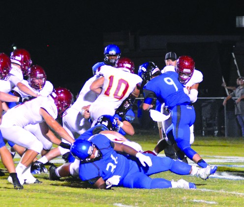 Jeremy Schneider/jeremy.schneider@amnews.com Garrard County's Jacob Foley (10) gets into the end zone for a 2-point conversion in the second quarter of Friday's game at East Jessamine.