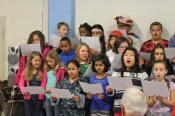 Photo submitted The Hogsett Elementary student choir sings during the school's Veteran's Day Celebration.