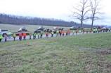 Kendra Peek/kendra.peek@amnews.com Searchers work their way through a field in a line search.
