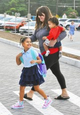 Wednesday was back to school time for students, teachers and staff at the Danville and Boyle County schools. Maleah Barley is all smiles as she walks into Toliver Elementary School on her first day of first grade, with her mother, Michelle Marple and brother, Curryn Baker.