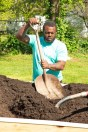 Photos submitted Terrance Walker shovels dirt at Cowan Park on May 1.