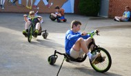 Not all time spent at the Black and Gold Academy is doing classroom activities. The morning session also lets students play games and enjoy big tricycles before getting down to some serious fun. On Wednesday morning, Keenan Stewart, leads Levi Wooten and Austin Milburn around in circles.