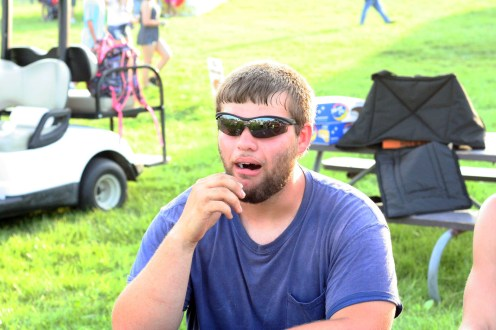 "Kendra Peek/kendra.peek@amnews.com Tyler Watson reacts to eating a ""spoiled milk"" jelly bean."