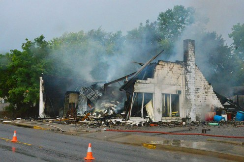 An early morning fire destroyed Whitehouse Auto Parts and Tire store in Perryville on Tuesday.