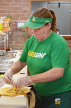 "Photos by Robin Hart/robin.hart@amnews.com Jeannie Brewer, who works most of the time at Subway on Fourth Street across from the Boyle County Courthouse says she knows most of her regular customers by name. And if she doesn't, ""I know their sandwich in my head."""
