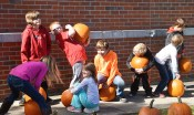 Robin Hart/robin.hart@amnews.com Students at Perryville Elementary School have several different reactions after being able to choose their own pumpkin.