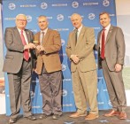 Photos contributed Lincoln County Farm Bureau receives 2018 Young Farmer Gold Star Award of Excellence. Pictured from left: Kentucky Farm Bureau President Mark Haney, Lincoln County Farm Bureau President Josh Brown, Kentucky Farm Bureau Federation Executive Vice President Drew Graham and Executive Vice President and CEO of Kentucky Farm Bureau Insurance John Sparrow. The award was presented during a November 30 recognition program at the 99th Kentucky Farm Bureau annual meeting.