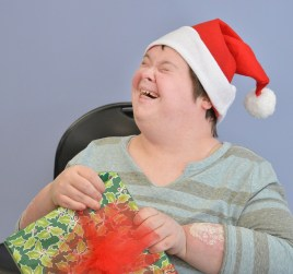 Robin Hart robin.hart@amnews.com Bridget Hawthorne shows pure joy and excitement after receiving a gift on Tuesday.