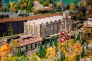 Ben Kleppinger/ben.kleppinger@amnews.com The city of Dant has its own water tower in Bowling's model train layout.