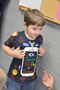 """Photo by Robin Hart Aiden Nichols shows off his """"Survived 100 Days of School!"""" T-shirt."""