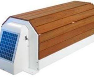 Modello esterno con calotta di protezione in PVC color legno: Narbonne solare-0