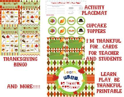 Thanksgiving Party Pack www.amodernteacher.com