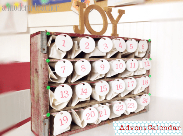 Advent Calendar www.amodernteacher.com
