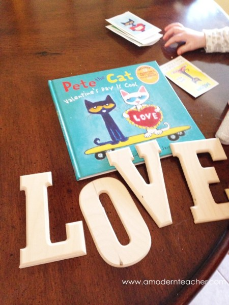 Pete the Cat for Valentine's Day www.amodernteacher.com