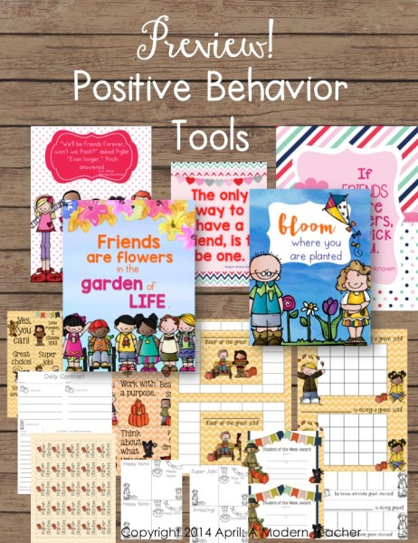 classroom management pack, a modern teacher, classroom, positive behavior