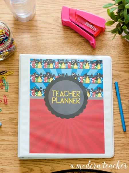 A Modern Teacher Superhero Planner