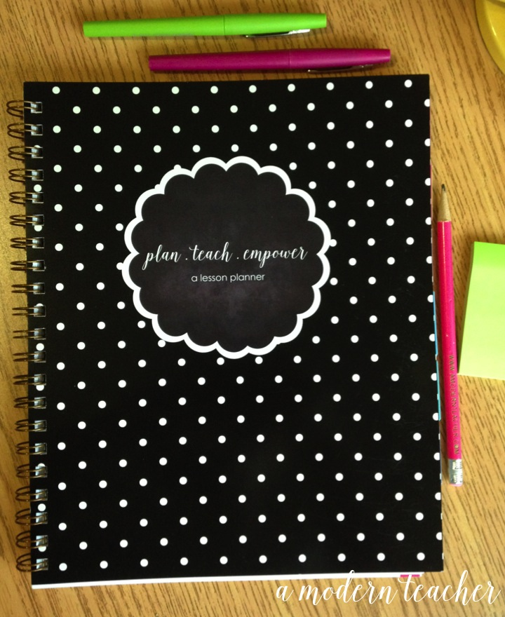 a modern teacher lesson planner