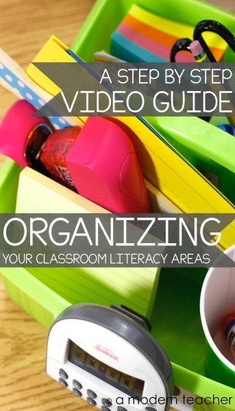 Organizing Your Reading and Writing Areas