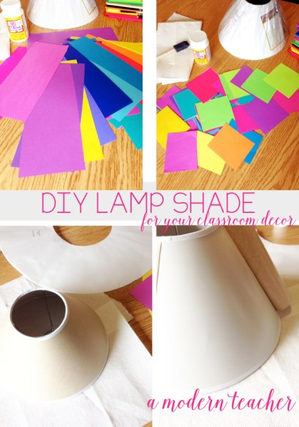 Colorize Your Classroom DIY Lampshade with Astrobrights and A Modern Teacher