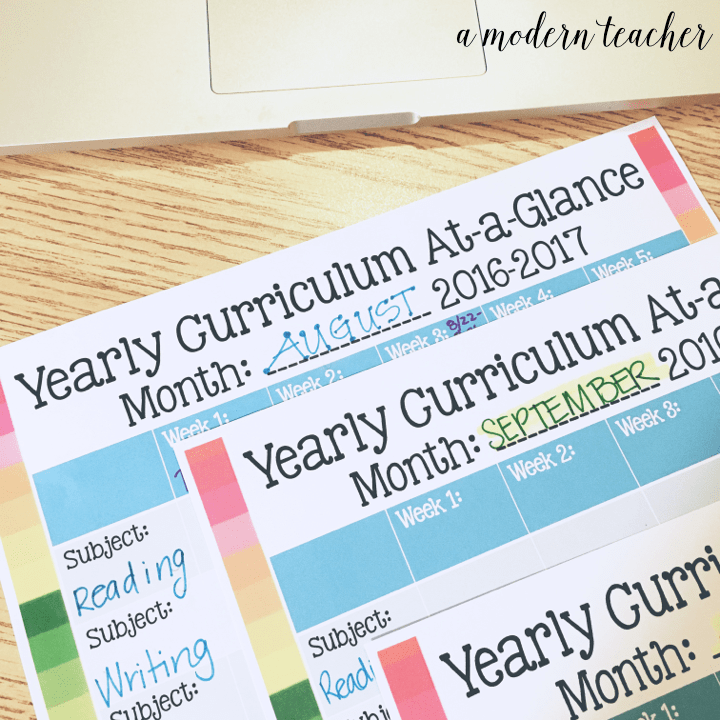 Curriculum Overview Templates Free Download