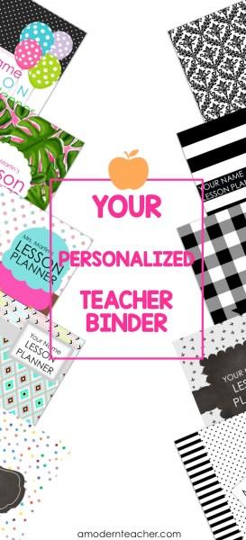 Personalized Teacher Binder