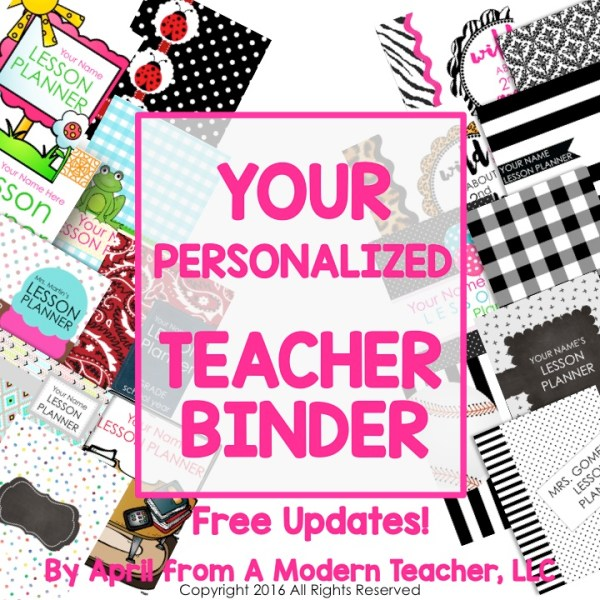 Personalized Teacher Binder