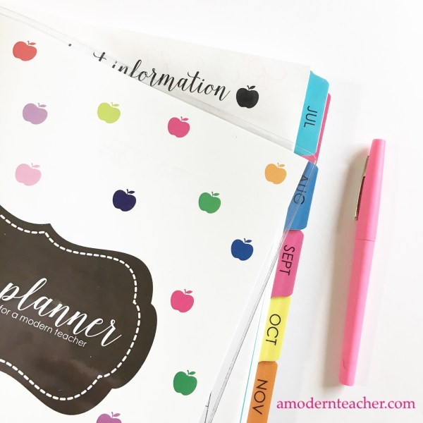 Printed Lesson Planners for A Modern Teacher