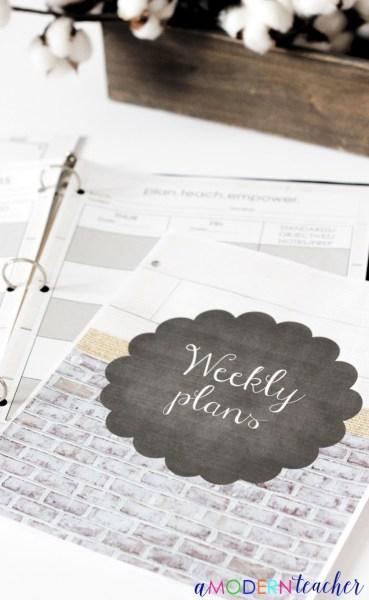 A Modern Teacher's Lesson Planner