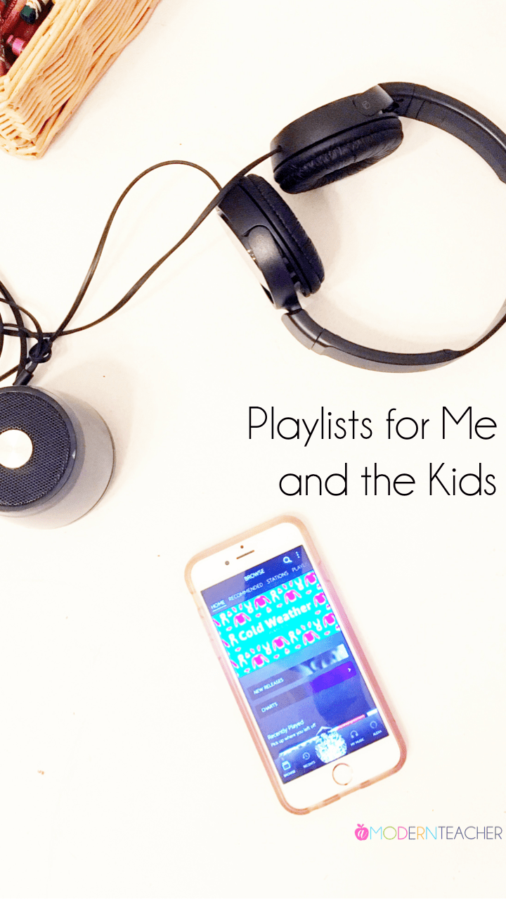 Amazon Music Playlists for Me and the Kids (in January)