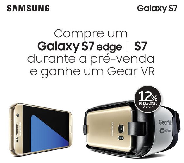 Pré-Venda do Samsung Galaxy S7 e Galaxy S7 Edge
