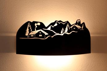 Applique a aschermo chalet - lampade montagna