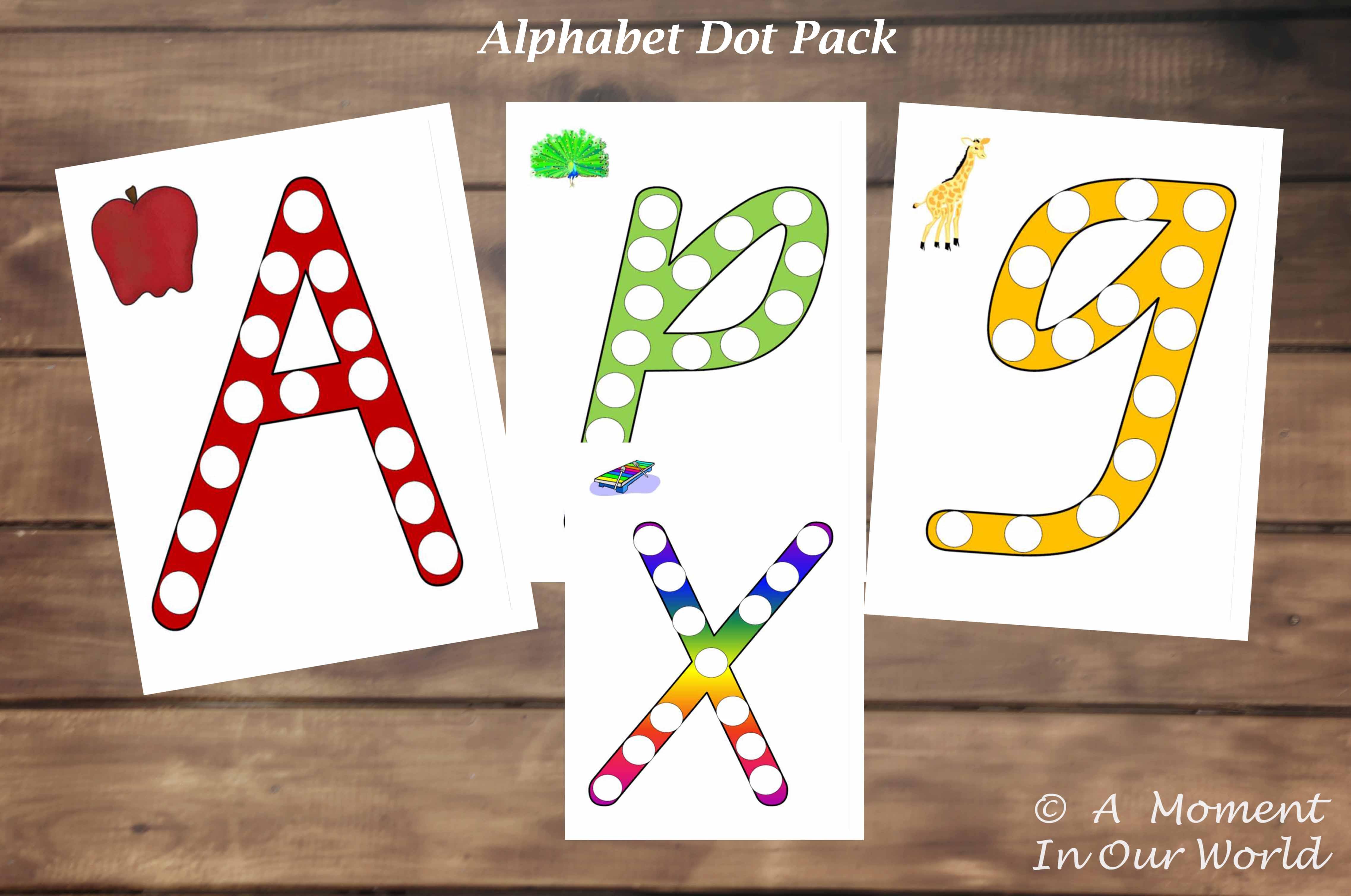 Alphabet Dot Marker Pack