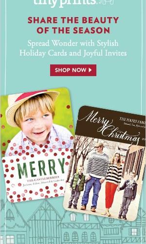 40% Holiday Cards at Tiny Prints