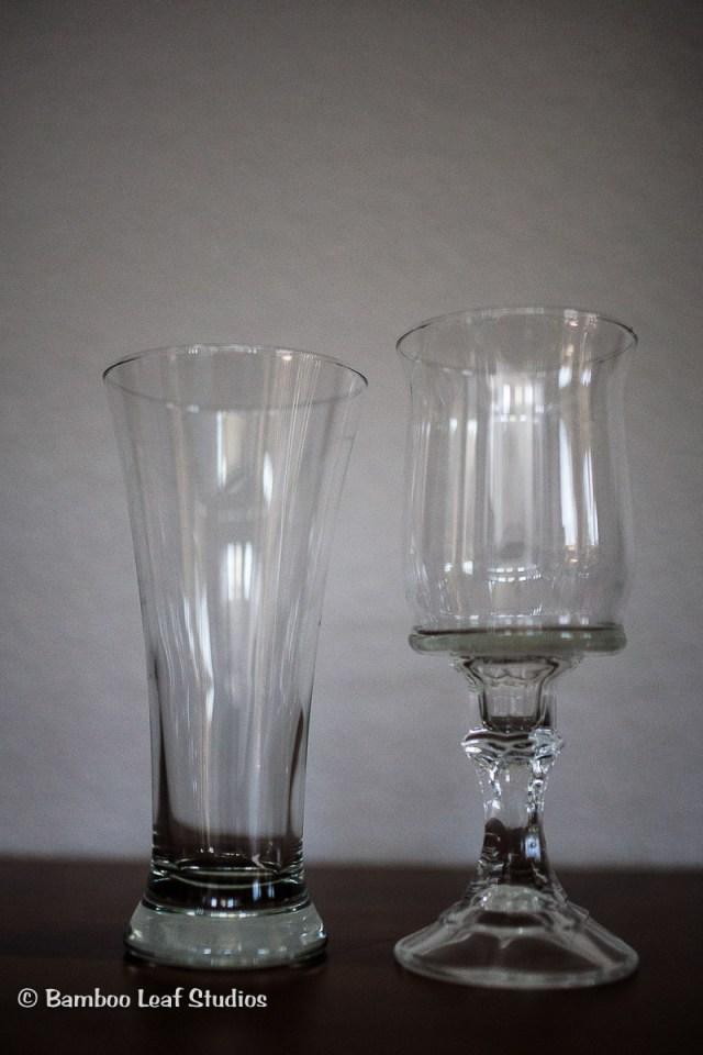 DIY Gold Glitter Vases
