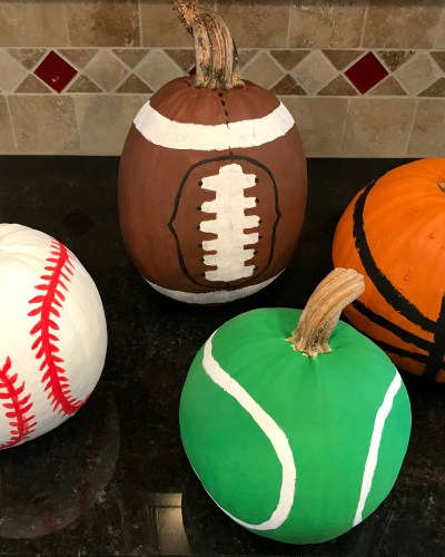 Pumpkin Painting: Sport Inspired Pumpkins