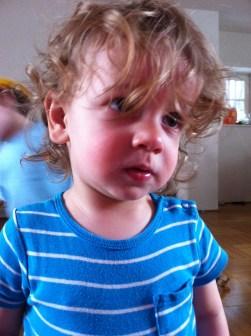 See? In his eyes. Too long.